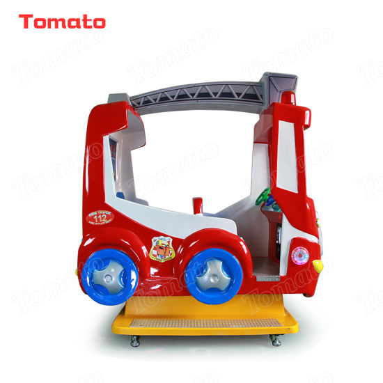 Red Fire Truck Indoor Outdoor Playground Coin Operated Swing Rocking Arcade Video Kiddie Ride Game Machine