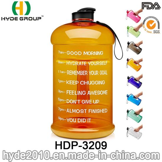 1 Gallon/128oz/3.78L Big Capacity Sports Water Bottles Plastic Bottle (HDP-3209) pictures & photos