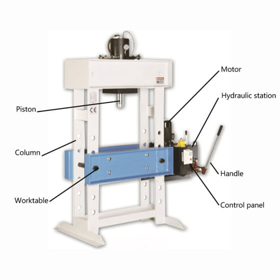 China Hand/ Electric Pump Workshop Hydraulic Press Machine