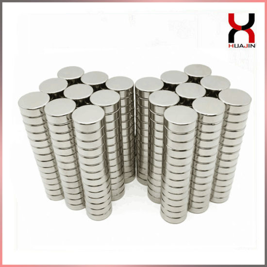 China Factory Supply Disc Round Shape Rare Earth Wafer Magnet