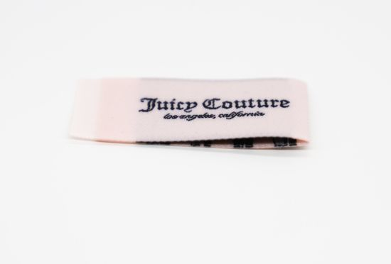 Gold Metallic Clothing Woven Labels Damask Woven Labels with High Quality pictures & photos