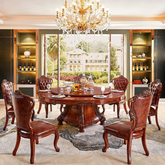 Outstanding China Round Rotary Dining Table With Wood Sofa Chair For Gmtry Best Dining Table And Chair Ideas Images Gmtryco