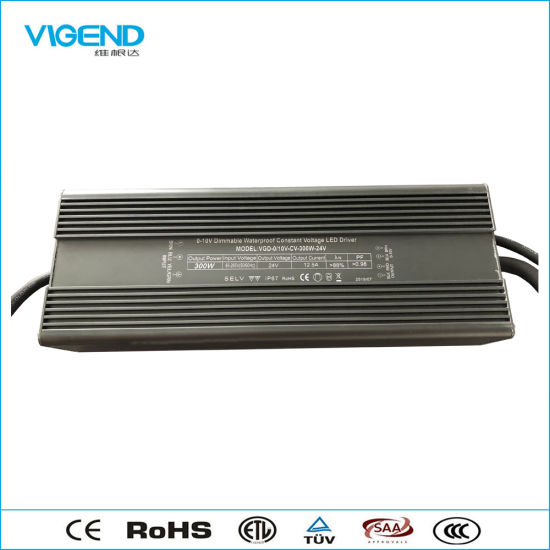 0-10V Dimmable LED Driver 300W with Waterproof Use for Outdoor Light