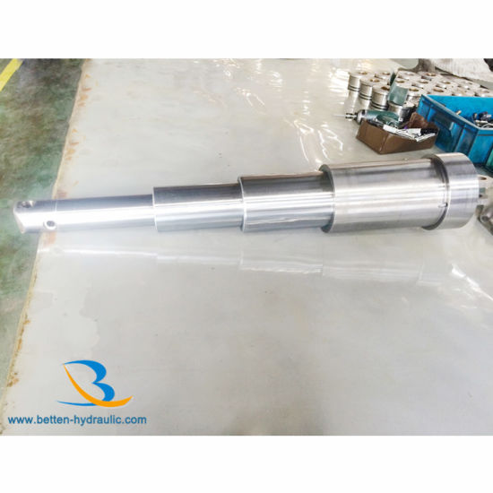 Multistage Telescoping Hydraulic Cylinders for Trailer