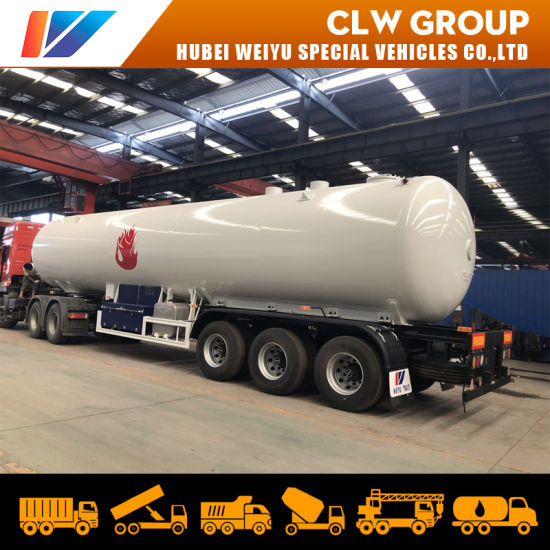 3 Axles 25tons LPG Mobile Tanker Trailer 49600L Liquefied Petroleum Gas Tank Trailer