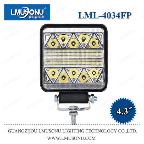 Lmusonu New Square Strobe LED Work Light 4034fp 4.3 Inch 51W Combo Beam