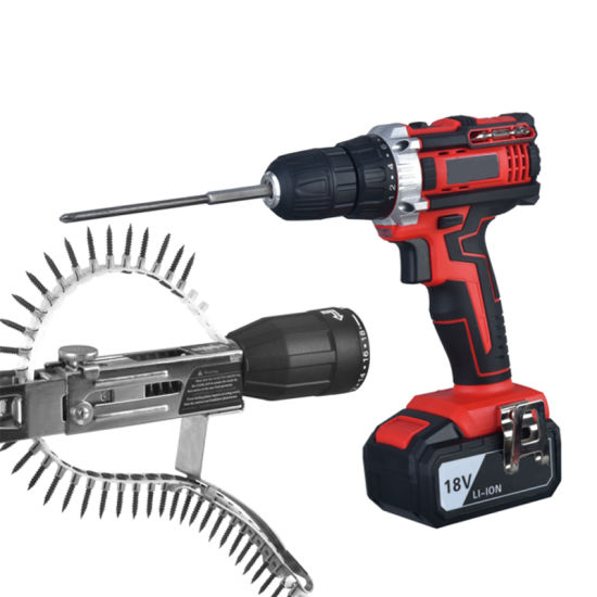 Professional Cordless Drill 18V with Auto-Feed Screws