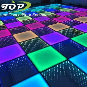 Magnet Wireless Portable Time Tunnel DJ 3D Mirror RGB LED Dance Floor for Party