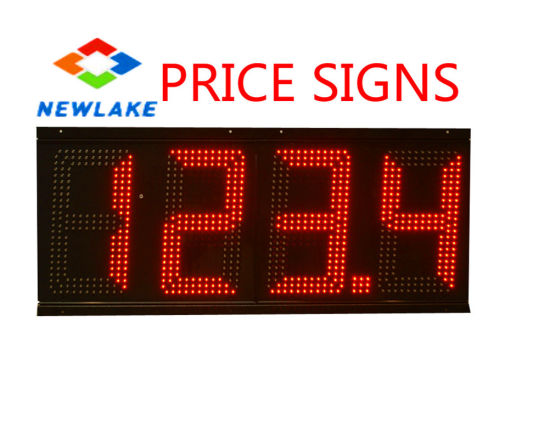 Sign of Gas Prices for Petroleum Advertising (12 inch Red)