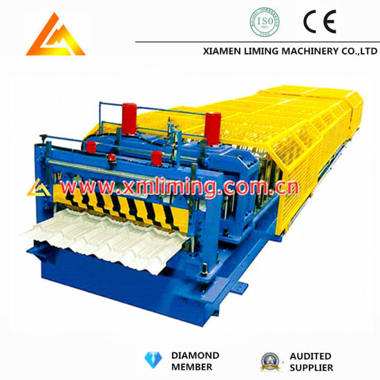 Liming New Customized PPGI& Aluminum Plate Roof and Wall Tile Panel Sheet Cold Roll Forming Machine Equipment Factory Price with ISO9001/Ce