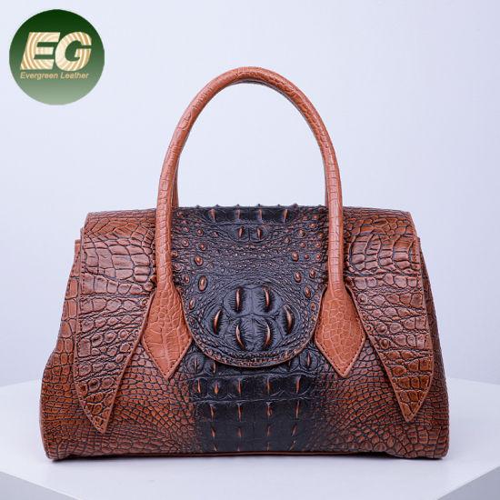 Vintage Crocodile Pattern Women Handbag Fashion Unique Ladies Tote Bags Wholesale in China Factory Sh1015