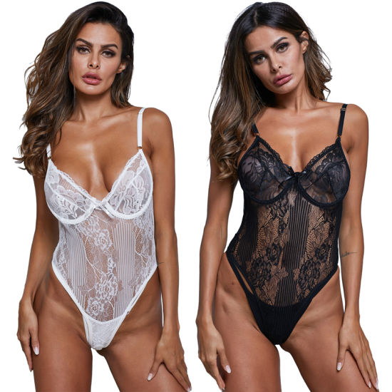 2019 Hot Fashion Women Clothes Sexy Teddy Bodysuit Lingerie