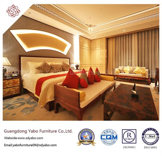 Commerical Hotel Furniture With Chinese Style Wooden Bed Yb Gn 10