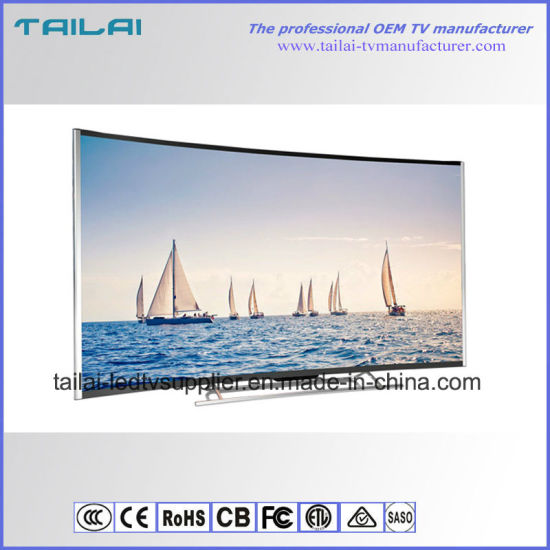 """Aluminium Alloy 65 """" Android 4.4 Smart 4K Curved TV with A Grade UHD Panel"""