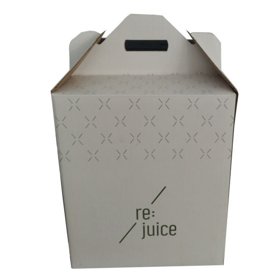 Corrugated Packaging Paper Box for Gift Shipping with Handles