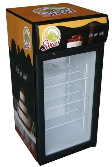 China Small Capacity Table Top Mini Display Fridge For Drink JGA - Small table top refrigerator