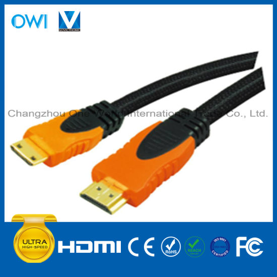 1080P Multi-Color 19pin Plug-Mini HDMI Cable for HDTV/4K/3D/Internet pictures & photos