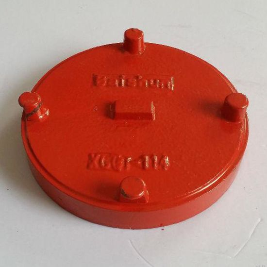 FM/UL Certificated Ductile Iron Pipe Fittings Grooved Cap for Water Supply