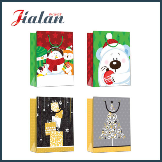 2016 New Arrive Custom Cheap Made Christmas Shopping Gift Bag pictures & photos