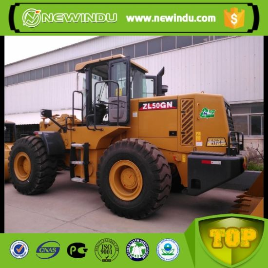 XCMG Front End Small 5ton Zl50gn Wheel Loader Price with Rock Bucket