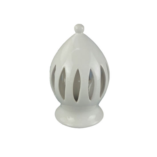 White Christmaa Decoration House Shaped Ceramic Hanging Candle Lantern pictures & photos
