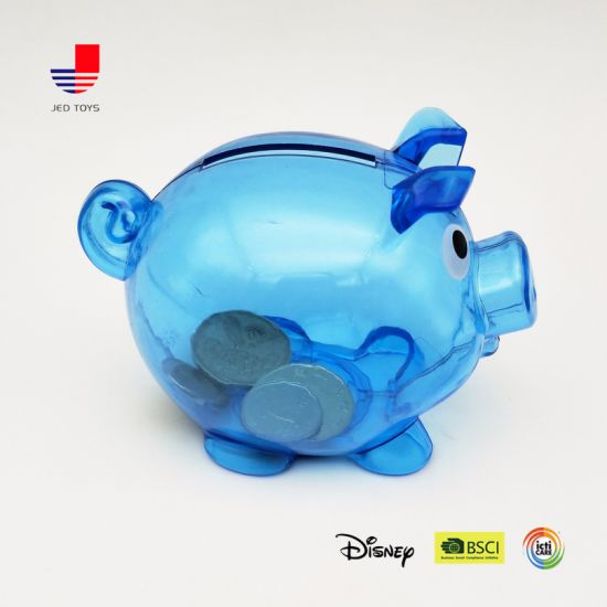 Lovely Transparent Plastic Pig Money Box for Kids Coinbank pictures & photos
