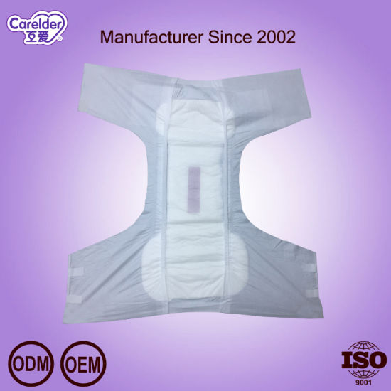 European Best Choice--OEM Pop Big Size Adult Diaper with Magic Tape to Solve Incontinence
