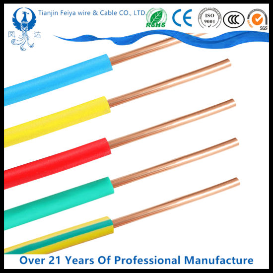 Hot 1.5mm 2.5mm 4mm 6mm 10mm Single Core Copper PVC House Wiring Electrical Cable and Wire Price Building Wire pictures & photos