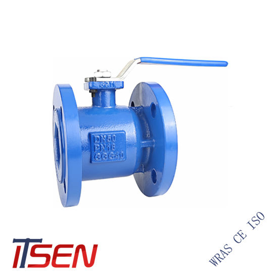 DIN Ductile Iron (GGG40) Full Bore Flanged Ball Valve with Handle