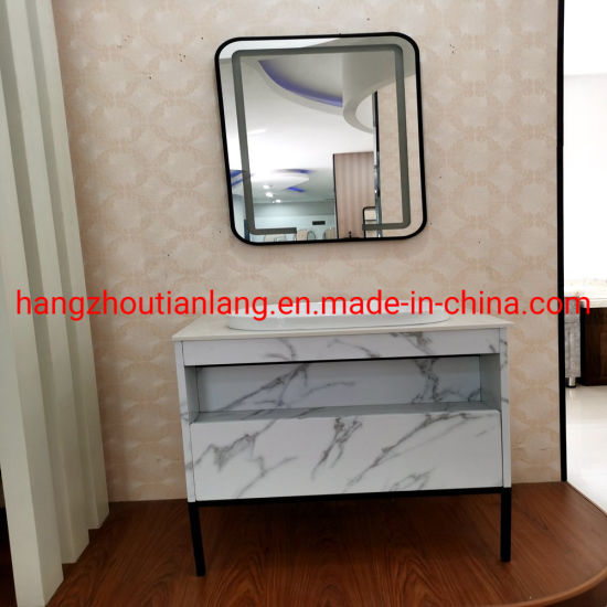2020 Newest Marble Color fashion Stainless Steel Metal Bathroom Toilet Cabinet