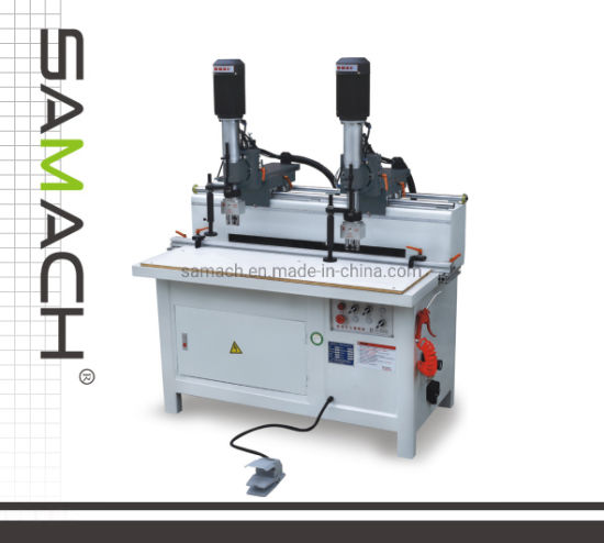 Solid Wood Processing Machine Multi Heads Hinge Drilling Machine with Two Heads