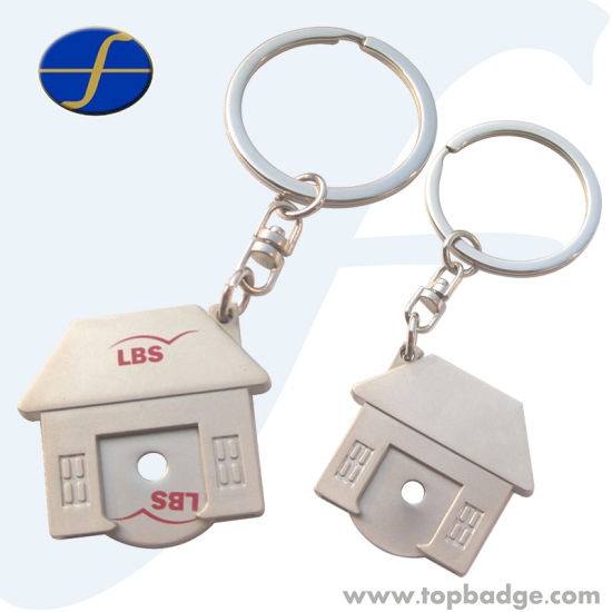 Customize Logo Enamel Trolley Coin with Keyholder (FTTR0126A)