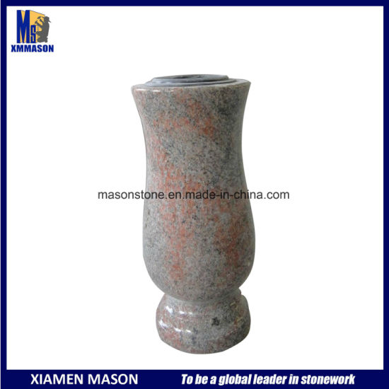 China Multicolor Red Granite Memorial Vases For Sale China Vases