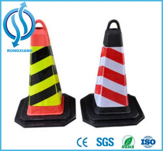 Traffic Safety Facilities 90cm PVC Traffic Cone Roadway Safety pictures & photos