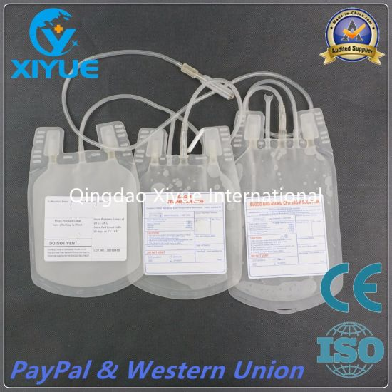 Cpda-1 Disposable Triple Blood Bag with Ce&ISO