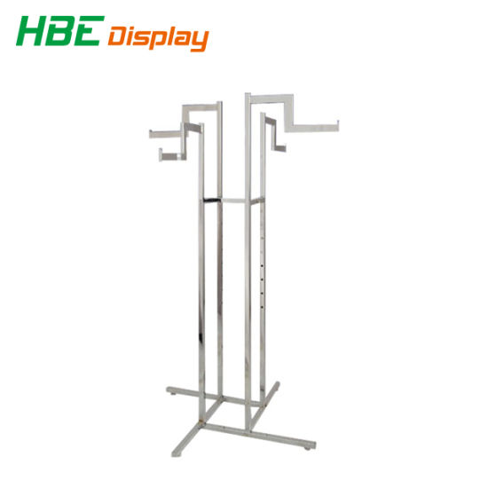 Single Bar Chrome Plated Garment Clothes Rack pictures & photos