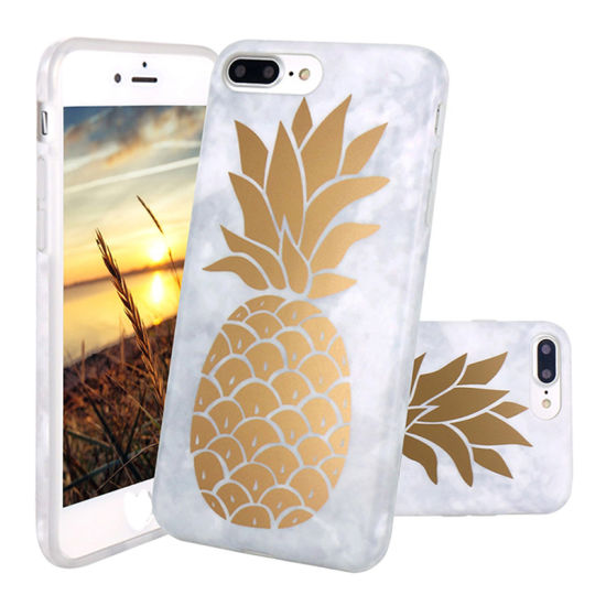 newest 81347 73dd1 Creative Bronzing Pineapple Phone Case Cover for iPhone X