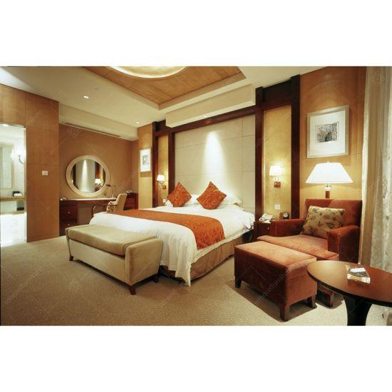 High End Luxury Modern Commercial Hotel Furniture Set Bedroom King Size Bed  For Sale