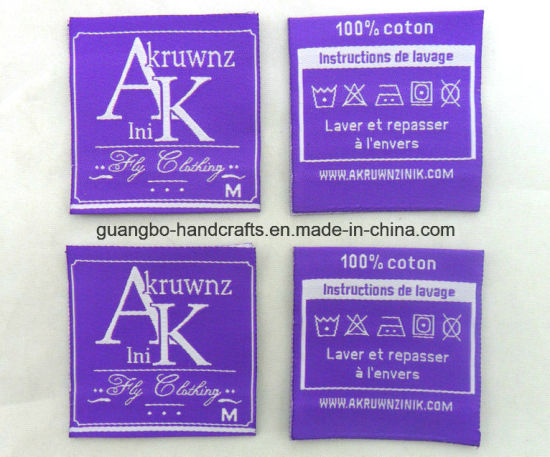 Custom Design Garment Woven Label (CD-0315) pictures & photos