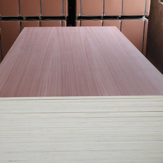 Poplar Main Material and First-Class Grade Sapele Coated Commercial Plywood