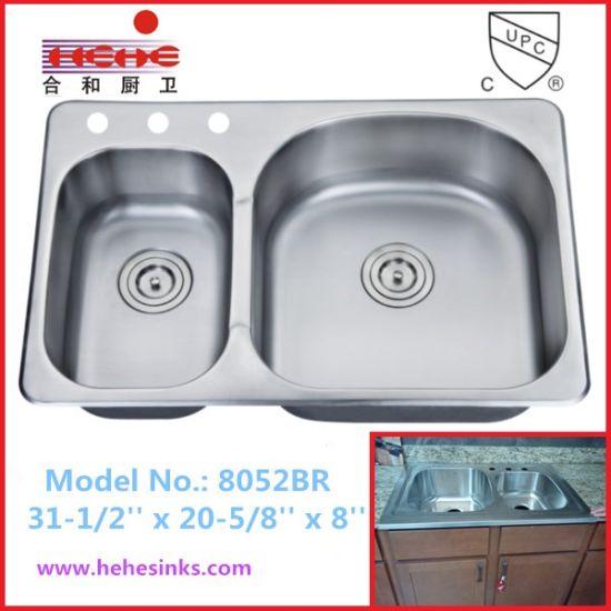 30/70 Top Mount Stainless Steel Bar Sink, Kitchen Sink