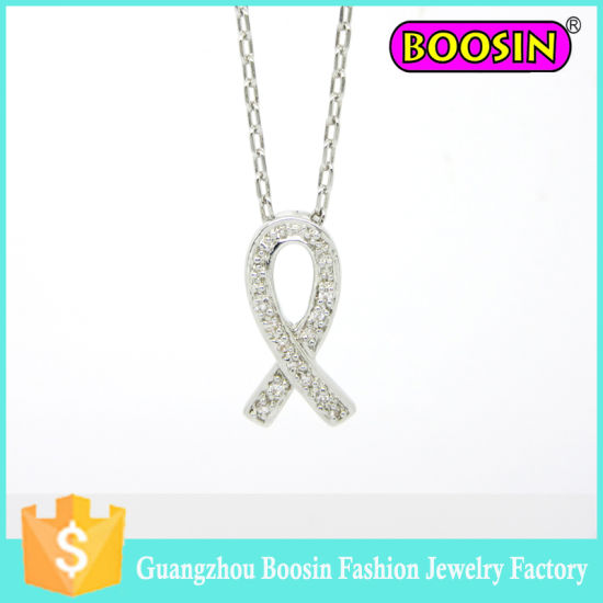 Wedding Silver Jewelry Set Alloy Infinity Crystal Charm Flower Necklace pictures & photos