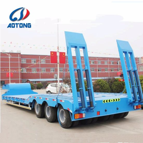 Low Flatbed Semi Trailer pictures & photos