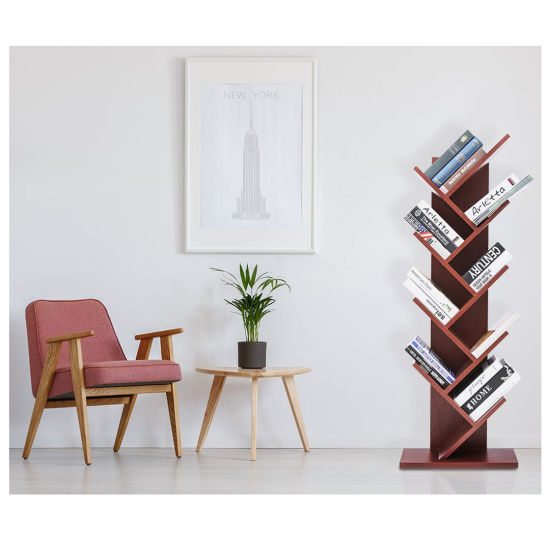 Display Storage Furniture 9 Shelf Tree Bookshelf Bookrack Bookcase