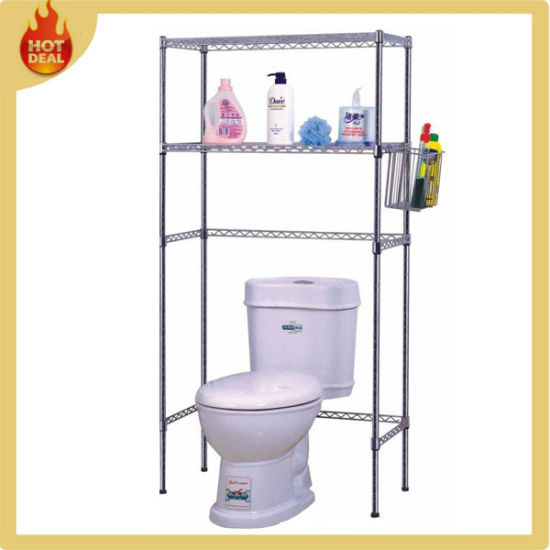 Stainless Steel Wire Bathroom Storage Rack Chrome Shower Caddy