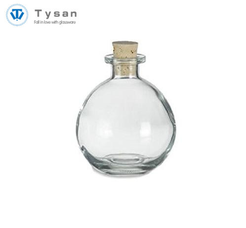 China Heart Shape Glass Favor Bottle With Cork Stopper China Glass