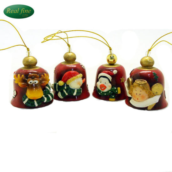 resin deer small bell christmas tree decoration for sale