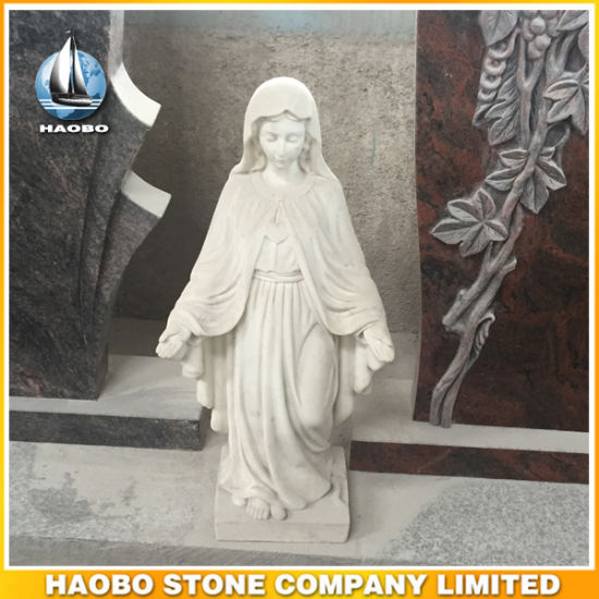 Marble Our Lady of Grace Virgin Mary Catholic Figurine