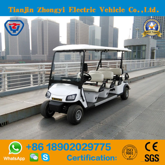 Hot Selling Zhongyi Brand 4 6 8 Seater Sightseeing Club Mini Electric Golf Cart with Ce
