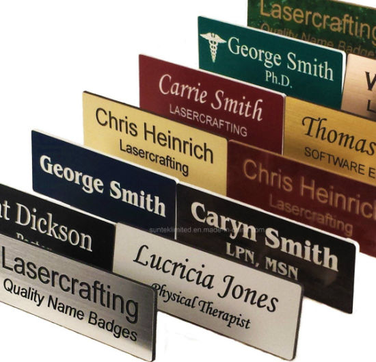 Custom Chrome Engraved Metal Names Logo Badge Tags pictures & photos